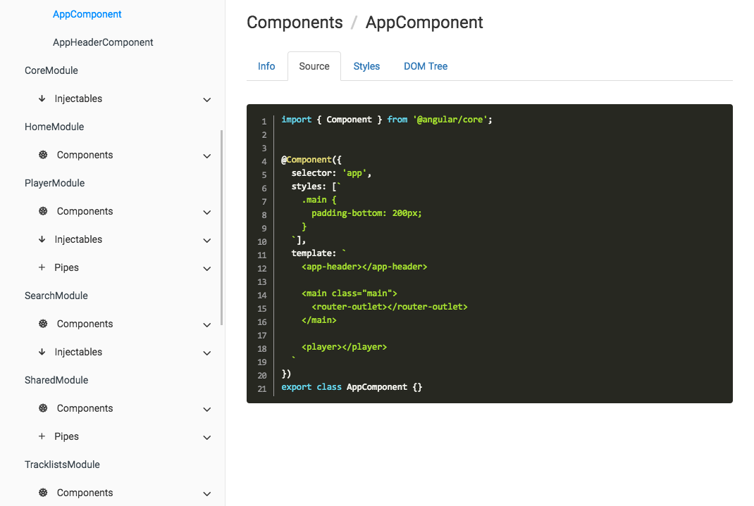 Compodoc - The missing documentation tool for your Angular