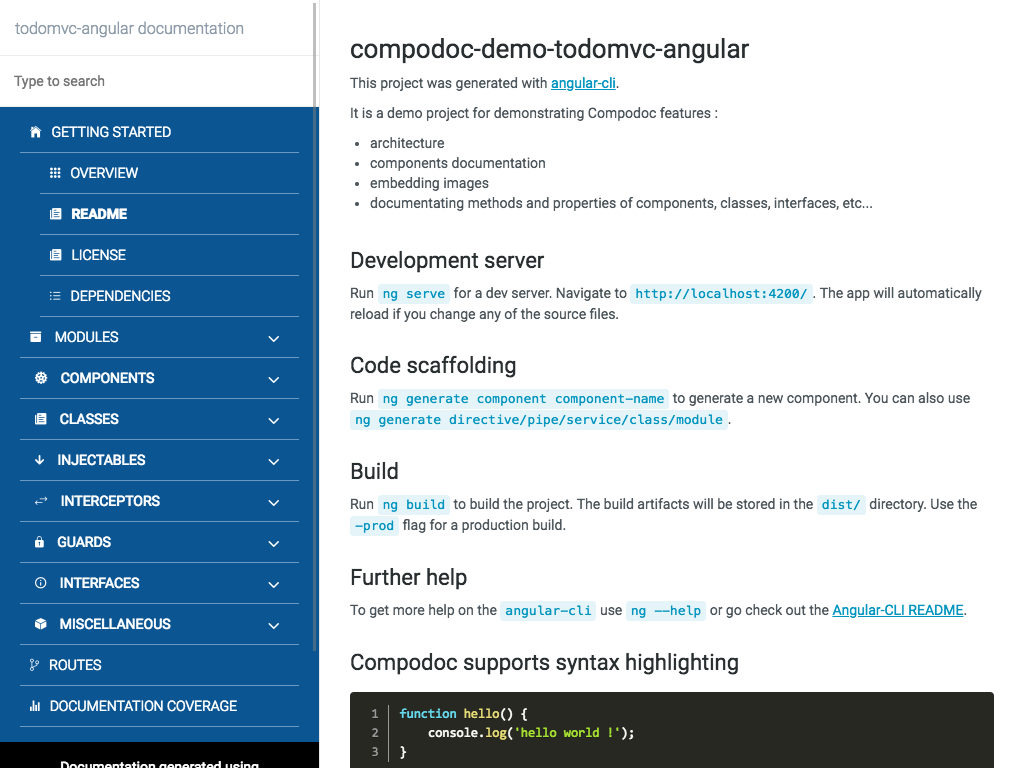 Compodoc - The missing documentation tool for your Angular application